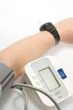 Measuring blood pressure royalty free stock photos