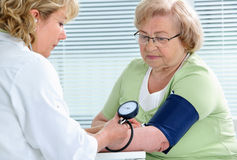 Measuring of blood pressure Stock Photography