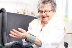 Measuring blood pressure Royalty Free Stock Photo