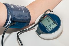 Measuring blood-pressure Stock Photos