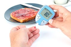 Measuring blood sugar Stock Photography