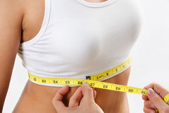 Measuring bra size Royalty Free Stock Photo