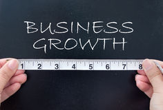 Measuring business growth Royalty Free Stock Image