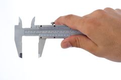Measuring with caliper Stock Photos