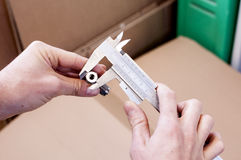 Measuring with Caliper Stock Images