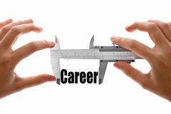 Measuring career Royalty Free Stock Photography