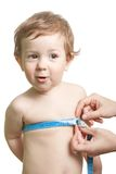 Measuring child Stock Images