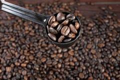 Measuring coffee Royalty Free Stock Photo