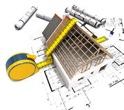 Measuring construction Royalty Free Stock Photo