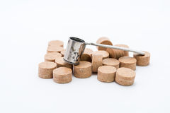 Measuring container of gunpowder. Has 3 positions weight Royalty Free Stock Photos