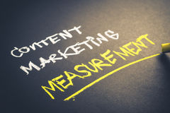 Measuring content marketing Stock Image