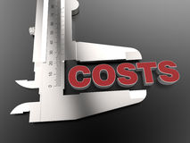 Measuring costs concept Stock Images