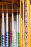 Measuring crafted candles royalty free stock images
