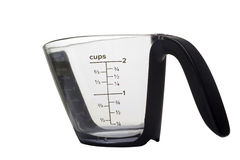 Measuring Cup. Kitchen measuring cup on a white background Stock Photos