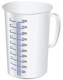 Measuring cup. To measure dry and liquid food. Vector illustration Stock Photo