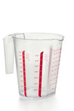 Measuring Cup. Kitchen utensil, plastic measuring cup Stock Image