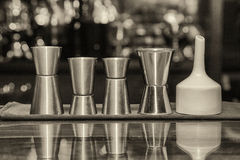 Measuring cup, bar Royalty Free Stock Photography