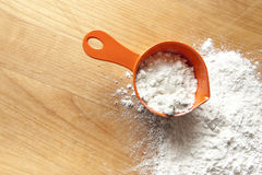 Measuring Cup with Flour. Seen from above Stock Image