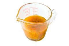 Measuring Cup With Liquid Stock Image