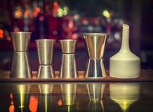 Measuring cup, Sheker set, bar royalty free stock photography