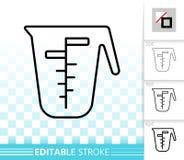 Measuring Cup simple black line vector icon vector illustration