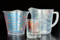 Measuring cups for kitchen royalty free stock photography