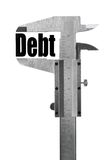 Measuring debt Stock Photo