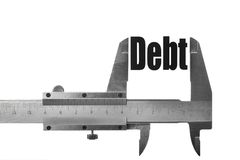 Measuring debt Royalty Free Stock Image