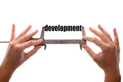 Measuring development Stock Photos