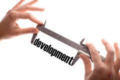 Measuring development Stock Photography