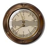 Measuring device. Ancient measuring device in the style of steampunk Royalty Free Stock Photography
