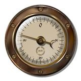 Measuring device. Ancient measuring device in the style of steampunk Stock Photos