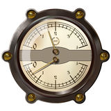 Measuring device. Ancient measuring device in the style of steampunk Royalty Free Stock Image