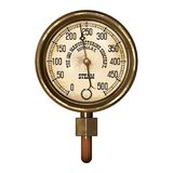 Measuring device vector. Ancient measuring device in the style of steampunk Stock Images