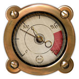 Measuring device vector. Ancient measuring device in the style of steampunk Royalty Free Stock Images