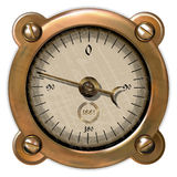Measuring device vector. Ancient measuring device in the style of steampunk Stock Photo