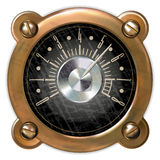 Measuring device vector. Ancient measuring device in the style of steampunk Stock Photography