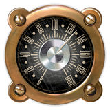 Measuring device vector. Ancient measuring device in the style of steampunk Royalty Free Stock Photos