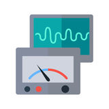 Measuring Device Vector Illustration in Flat Style Royalty Free Stock Image