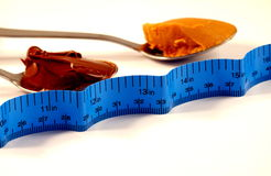 Measuring the Diet Royalty Free Stock Images