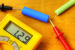 Measuring with digital multimeter Royalty Free Stock Photos
