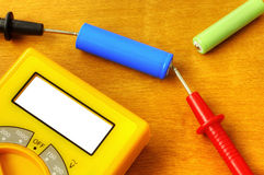 Measuring with digital multimeter Royalty Free Stock Image