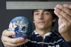 Measuring the earth Stock Photography