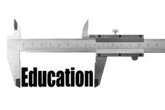 Measuring education Royalty Free Stock Image