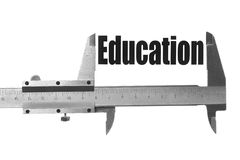 Measuring education Royalty Free Stock Image