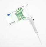 Measuring euro Stock Photo