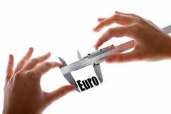 Measuring Euro Royalty Free Stock Images