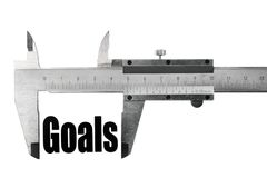 Measuring goals Stock Photo