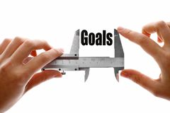 Measuring goals Royalty Free Stock Photography