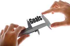 Measuring goals Stock Images